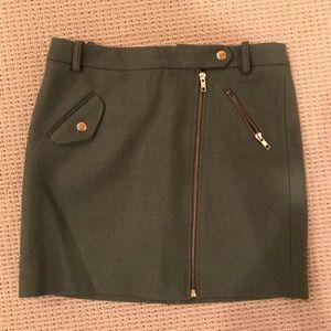 Brand new J. Crew green wool skirt